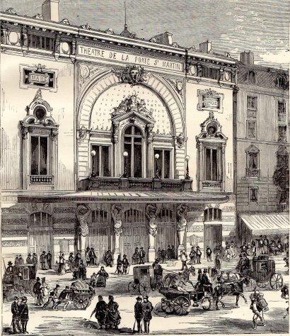 Pariser theater in denen die st cke jules vernes uraufgef hrt wurden - Theatre porte saint martin ...